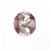 Glass Lamp Bead Round 8mm Silver/Amethyst